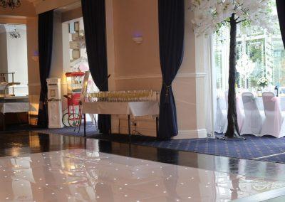 white starlight dance floor for hire